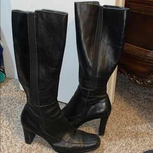 Anne Klein leather knee high boots